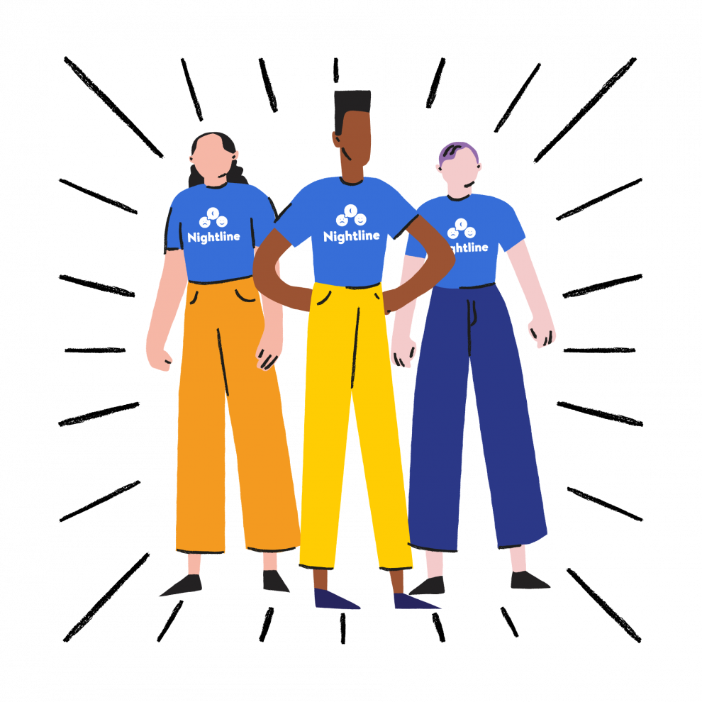 Illustration of volunteers as superheroes